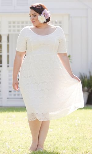 White plus size party dresses what others say and do is for Simple cream colored wedding dresses