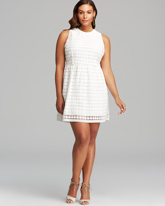 October 2014 White Plus Size Party Dresses