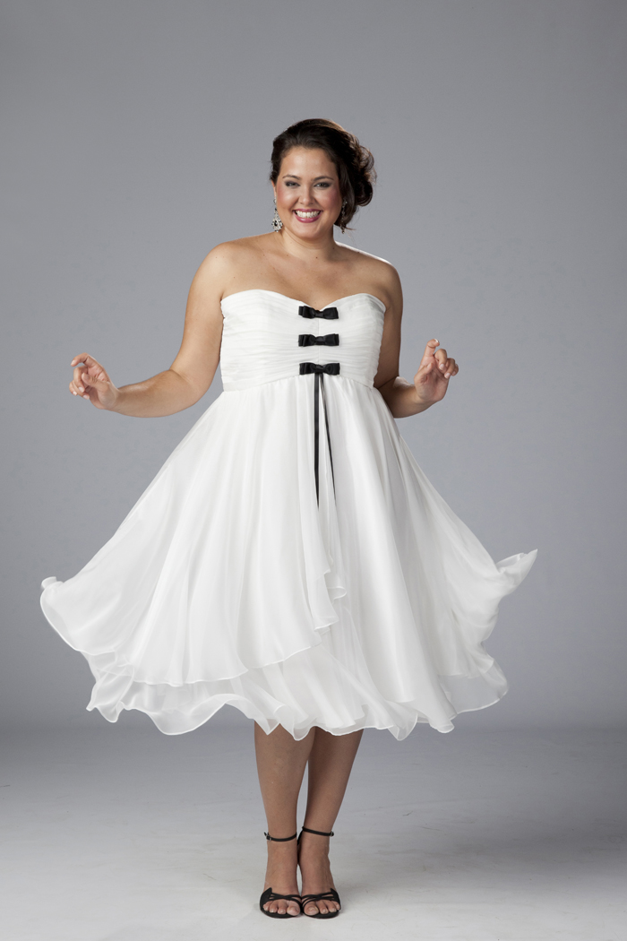 Plus Size Short White Party Dress 11