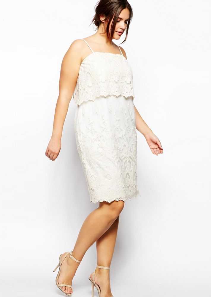 Plus Size White Party Dresses 75