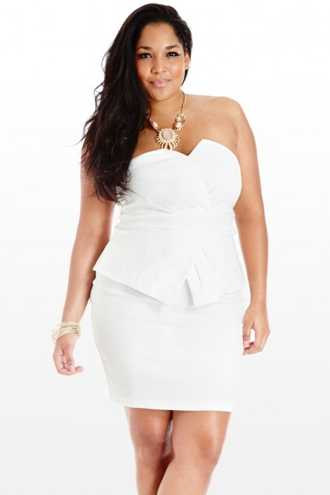 white plus size party dresses | What others say and do is ...