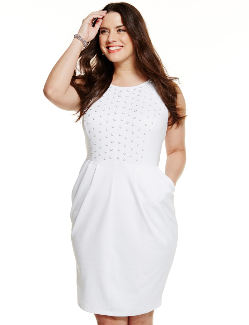 leaderbunhin | white plus size party dresses