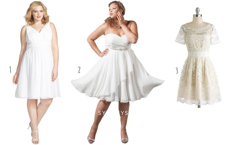 Surplice Dress Plus Size Plus-size-wedding-dresses